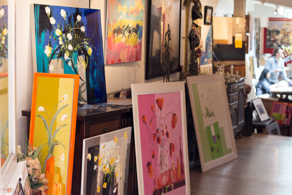 Galerie d'art à Honfleur