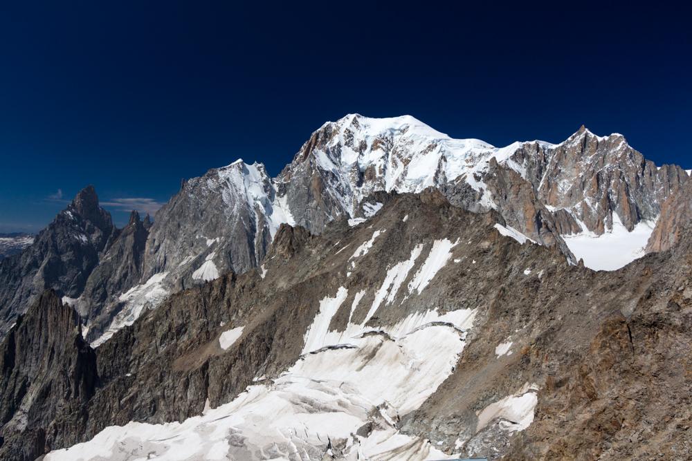 Le Mont-Blanc depuis la pointe Helbronner